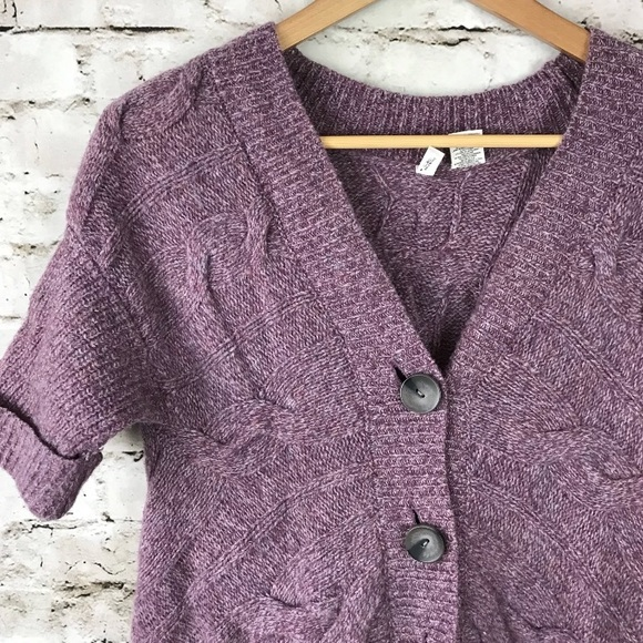 Anthropologie Sweaters - Anthropologie moth button up drape sweater